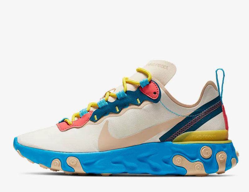 4a57d27adca Nike react element 55 sneakers wit/blauw vind je in Sneakerstad