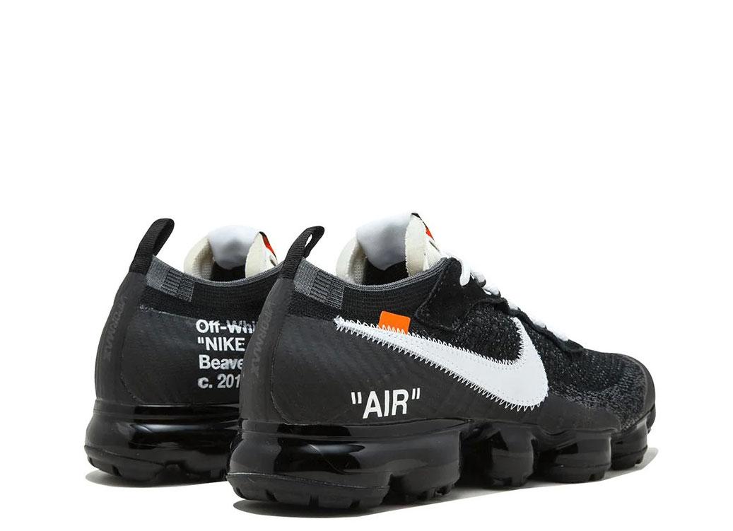 Nike x Off White The 10: Air Vapormax FK zwart