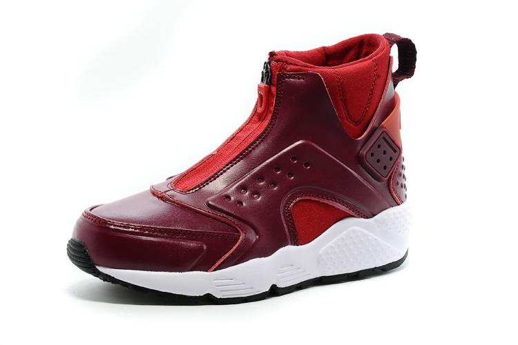 Nike Air Huarache Run Mid Dames Sneakers BorduearoodWit
