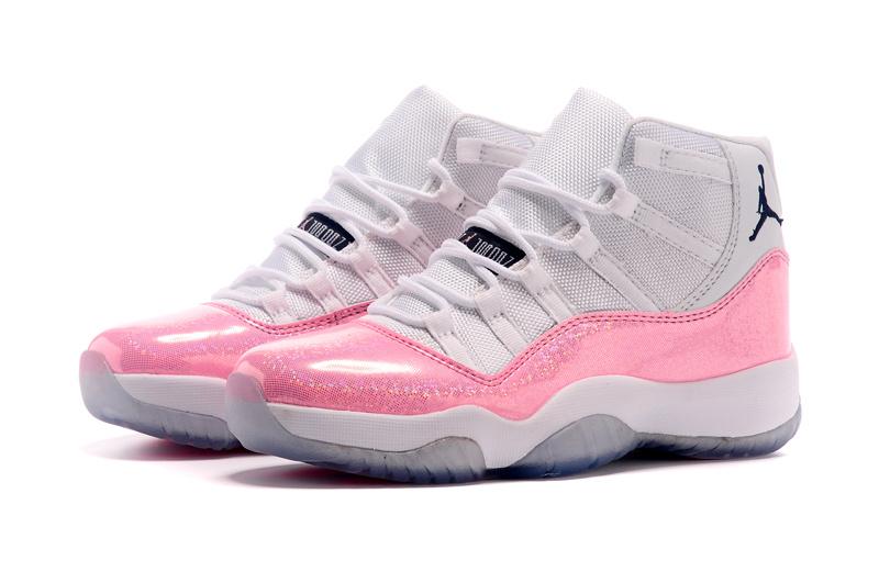 Nike Air Jordan 11 Retro Dames Sneakers - Wit/Roze