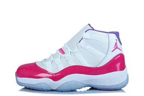 Nike Air Jordan 11 Retro Dames Sneakers - Wit/Roze/Paars