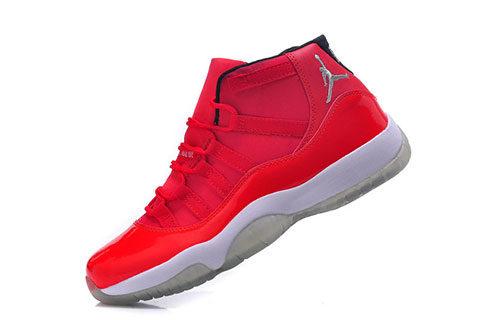 a8a9d9e408d Nike Air Jordan 11 Retro Kinder Sneakers – Rood/Grijs/Wit