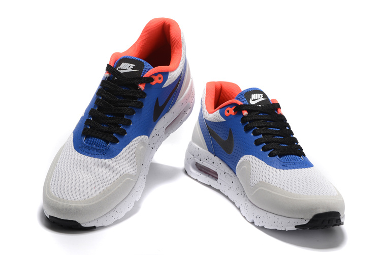 4ebf085cc3f Nike Air Max 1 Ultra Essential Heren Sneakers – Blauw/Wit/Grijs/Oranje