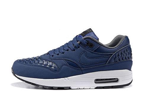 Nike Airmax One Deluxe Heren Sneakers DonkerblauwWit