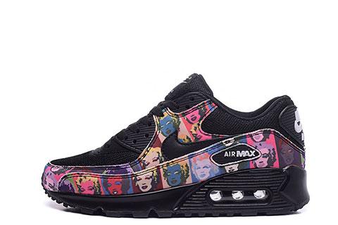 Nike Airmax 90 Premium Dames Sneakers - Zwart/Roze/Paars/Marilyn Monroe