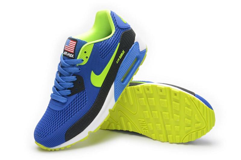 Nike Airmax 90 BR USA Heren Sneakers BlauwGroenWit Sneakerstad