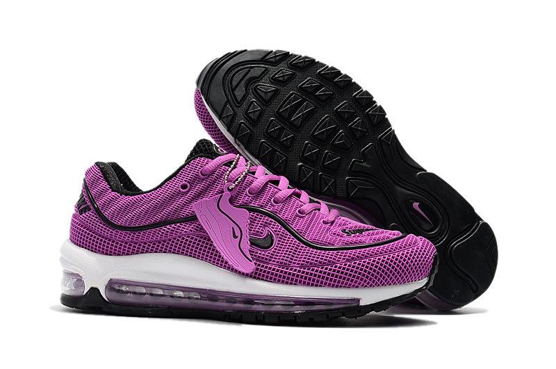 Nike Air Max 98 Supreme 2018 Dames Sneakers PaarsZwartWit