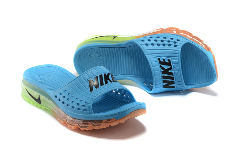 Nike Airmax Full Air Traction Heren Slippers BlauwGroenOranje Sneakerstad