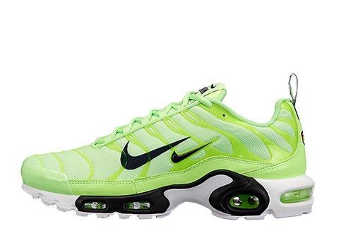aa866088273 Nike Air Max Plus Premium Unisex Sneakers - Groen/Zwart/Wit ...