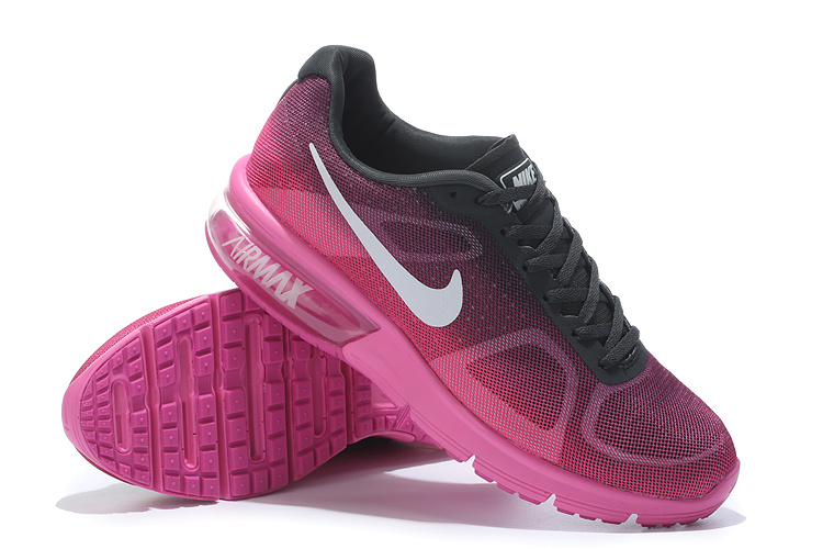Nike Airmax Sequent Dames Sneakers PaarsZwart