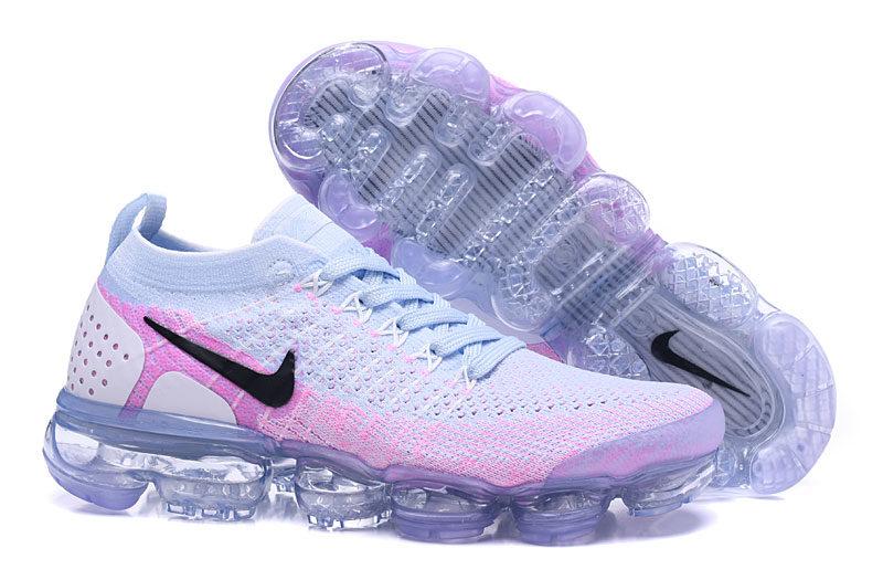 Nike Air VaporMax Flyknit 2 Dames Sneakers - Wit/Roze/Paars/Zwart