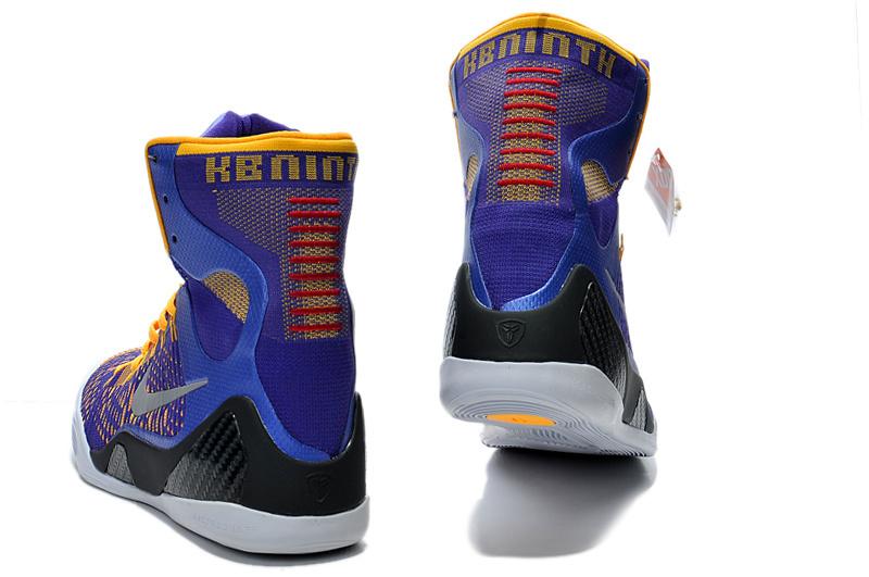 Nike Kobe 9 Elite Hoog Heren Sneakers PaarsGeelZwart