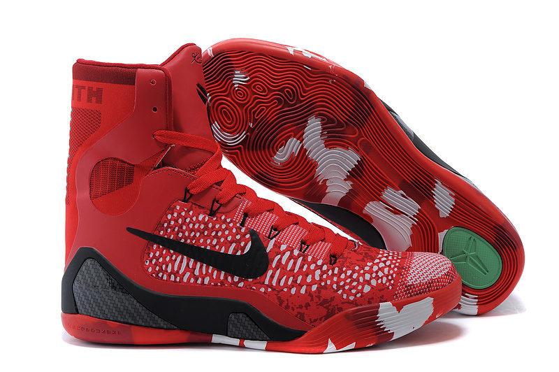 9d448bdd1f4 Nike Kobe 9 Elite Hoog Heren Sneakers - Rood/Zwart/Grijs/Wit ...