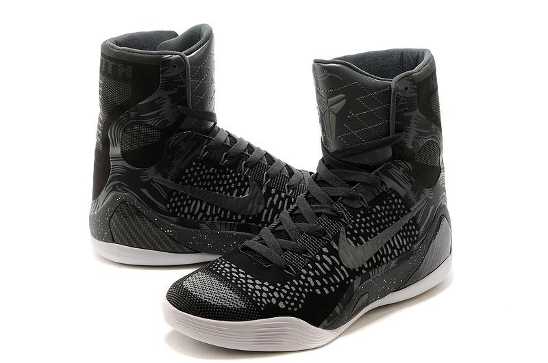 Nike Kobe 9 Elite Hoog Heren Sneakers ZwartGrijsWit