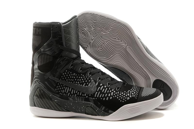 save off c05fa 0c2e0 Nike Kobe 9 Elite Hoog Heren Sneakers - Zwart/Grijs/Wit @ Sneakerstad