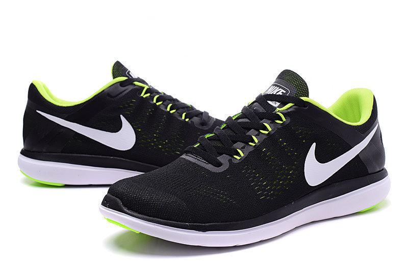 f6d25b08294 Nike Flex Run RN 2016 Unisex Sneakers – Zwart/Wit/Geel