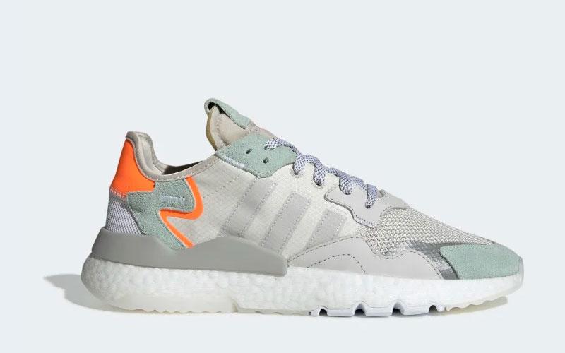 Adidas nite jogger sneakers grijs/blauw