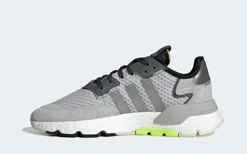 Adidas nite jogger sneakers grijsgroen Vind je in Sneakerstad