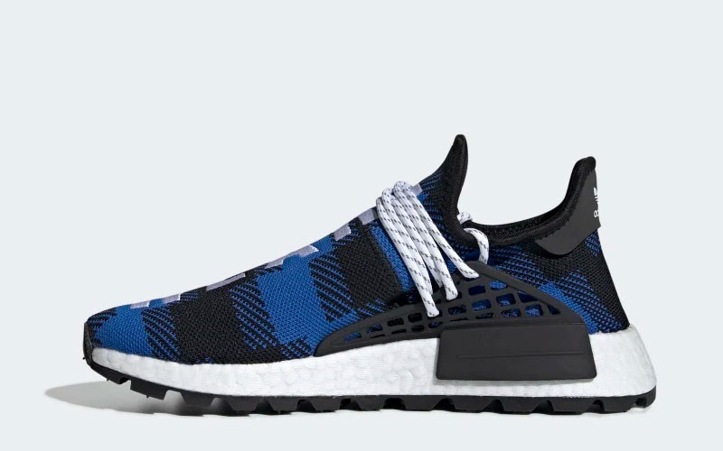 newest 6f1b0 1a41d Adidas Pharell Williams bcc hu nmd sneakers blauw/zwart