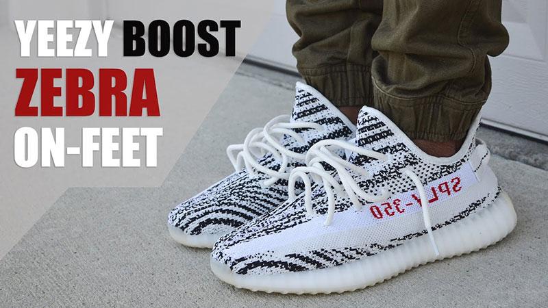 Adidas x yeezy boost 350 v2 zebra kanye west sneakers witzwart