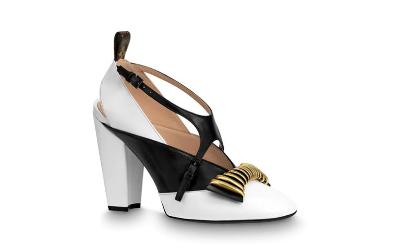 476cd45f629 Louis Vuitton headline cross dames pumps wit/zwart - Vind je in ...