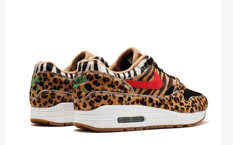 Nike air max 1 dlx dames sneakers bruin/zwart