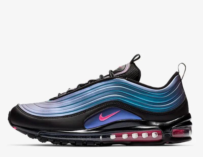 Nike air max 97 lx sneakers zwart/blauw