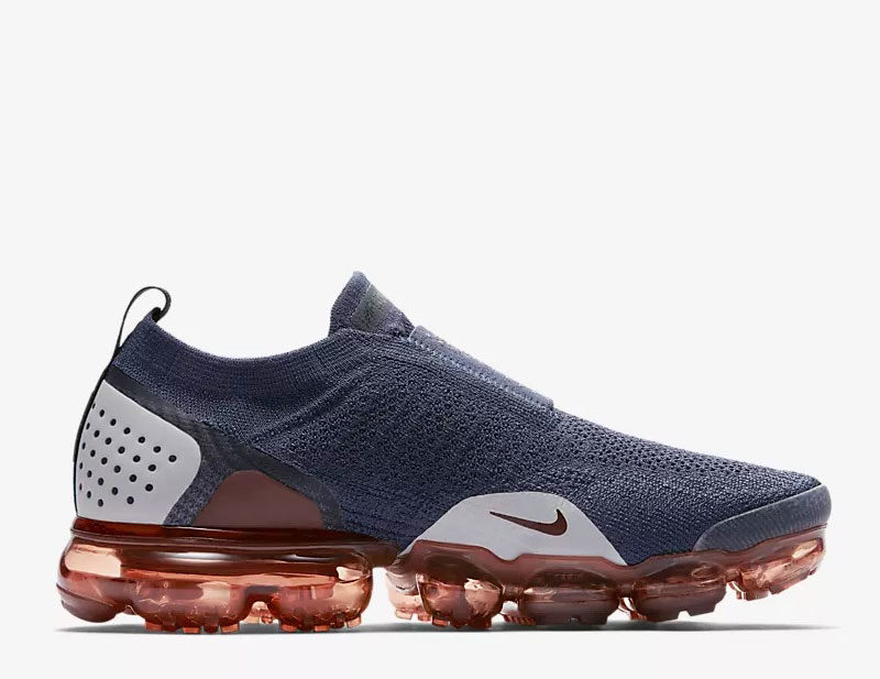 Nike air vapormax flyknit moc 2 sneakers donkerblauwrood