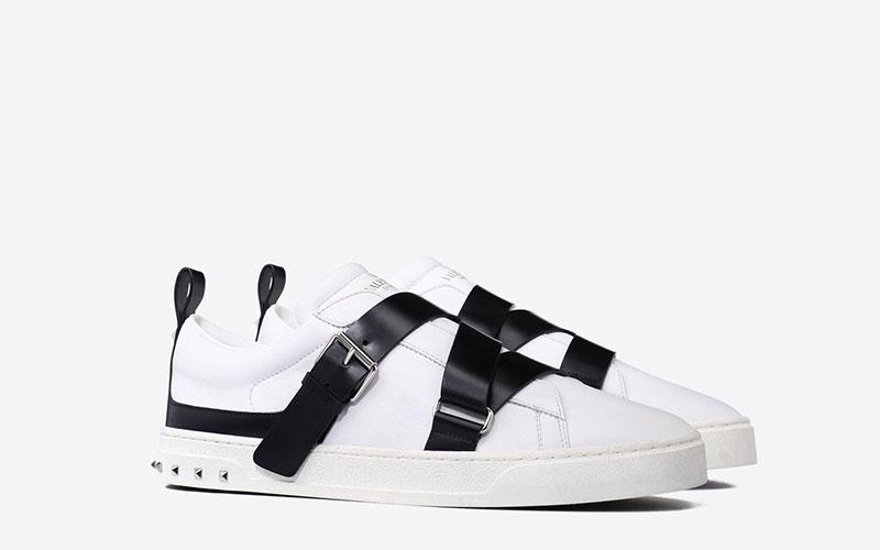 337f414df91 Valentino Garavani v-punk heren sneakers wit/zwart - Vind je in ...