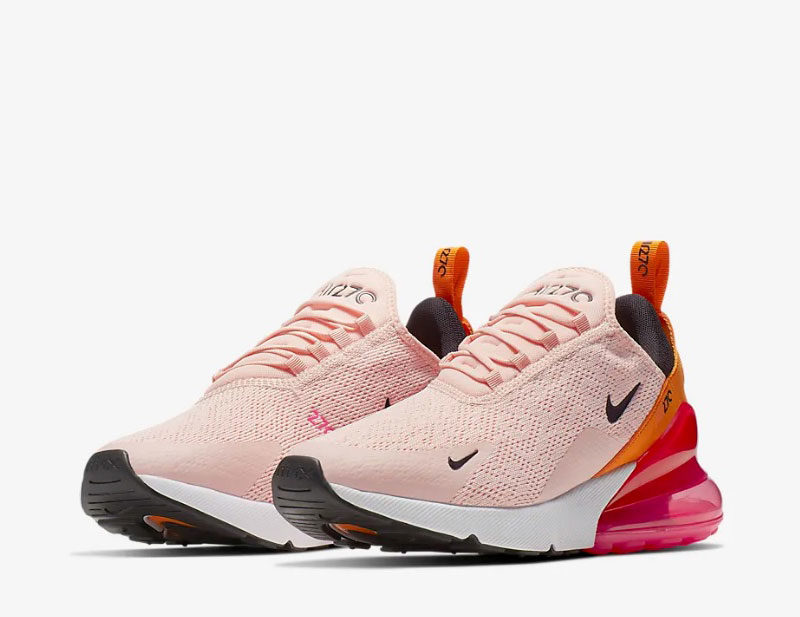 Nike air max 270 dames sneakers roze/oranje