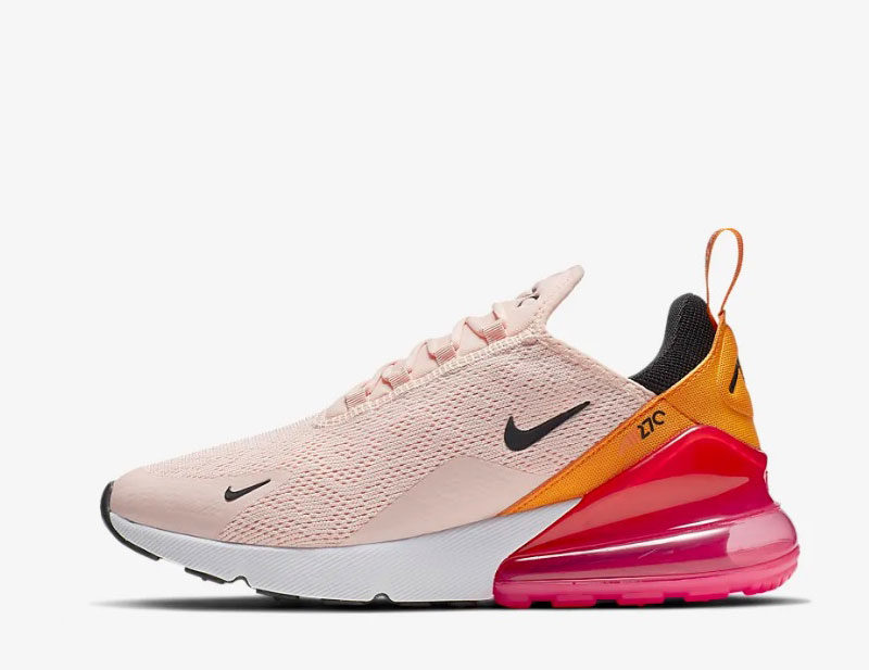 Nike air max 270 dames sneakers rozeoranje