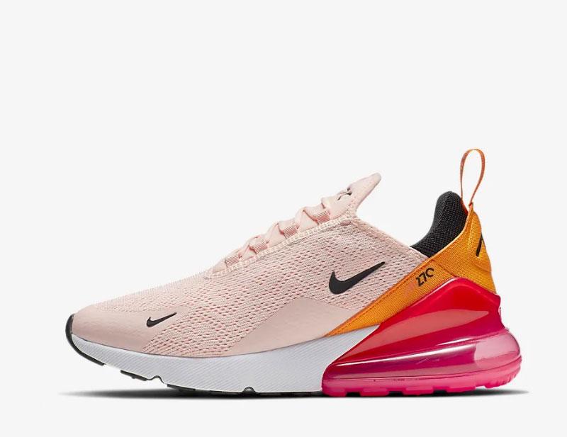 Nike air max 270 dames sneakers roze/oranje
