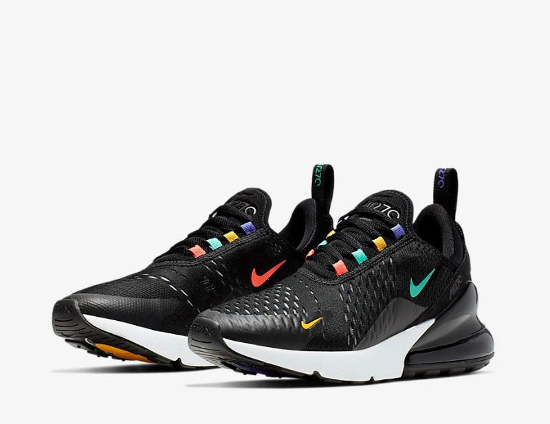 Nike air max 270 dames sneakers zwart/multicolor