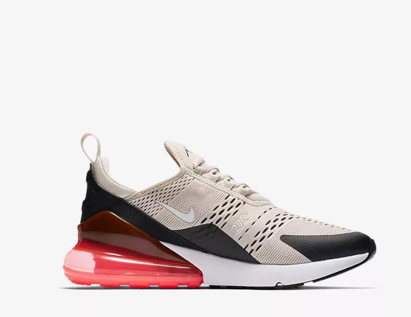 Nike air max 270 heren sneakers beigezwart vind je in