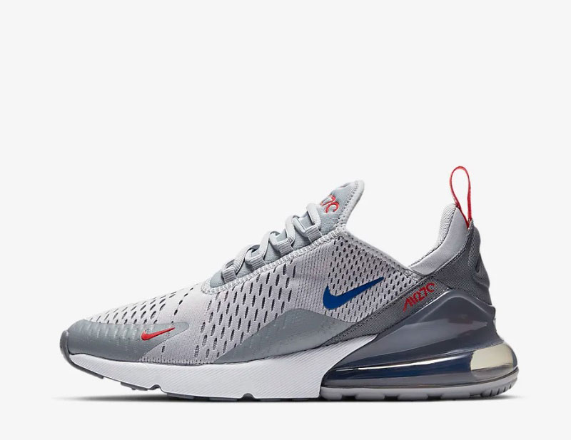 Nike air max 270 heren sneakers grijsrood