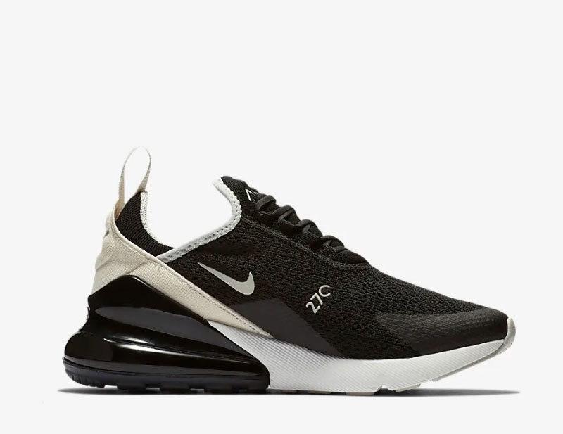 Nike air max 270 sneakers zwartbeige vind je in Sneakerstad