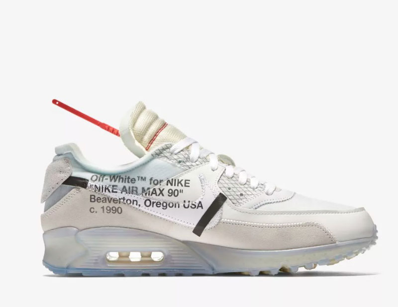 THE 10: Nike Air MAX 90 OFF WHITE zwart vind je in Sneakerstad