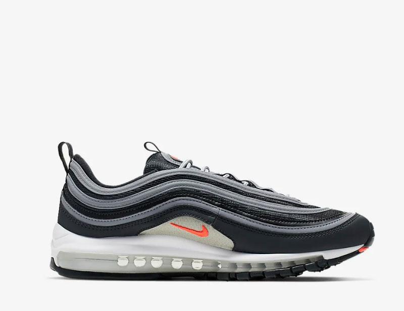 Nike air max 97 essential heren sneakers grijszwart