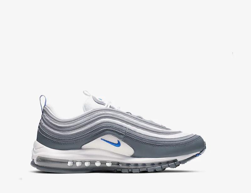 nike air max blauw grijs wit