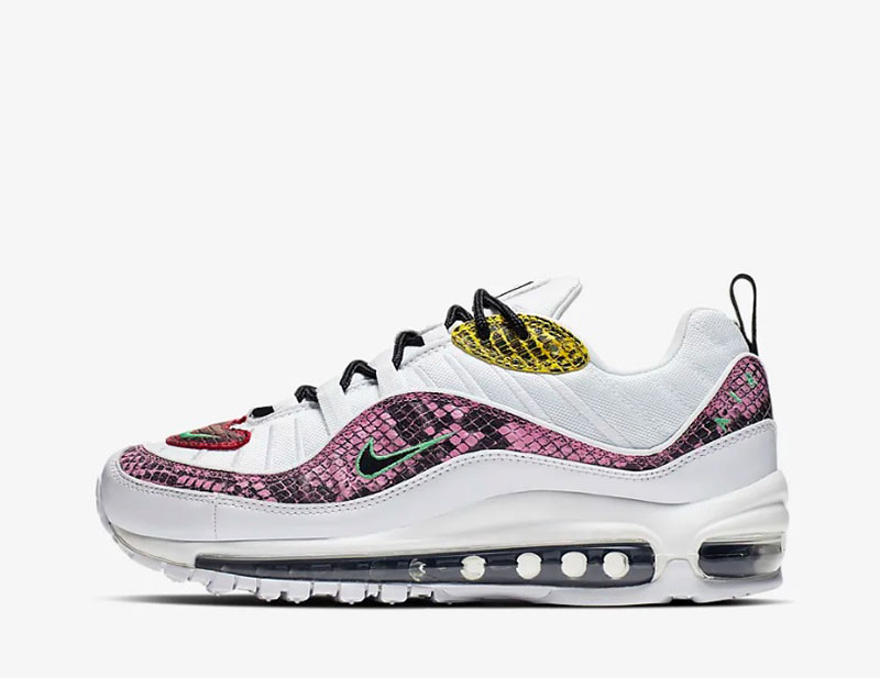 Nike air max 98 premium animal dames sneakers wit