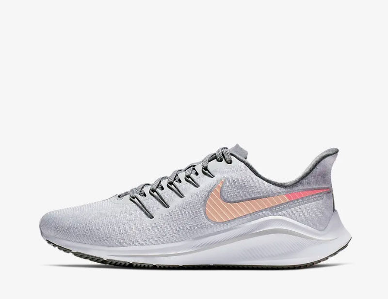 Nike air zoom vomero 14 dames sneakers grijs/wit