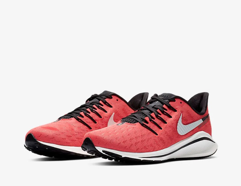 Nike air zoom vomero 14 dames sneakers rood/wit