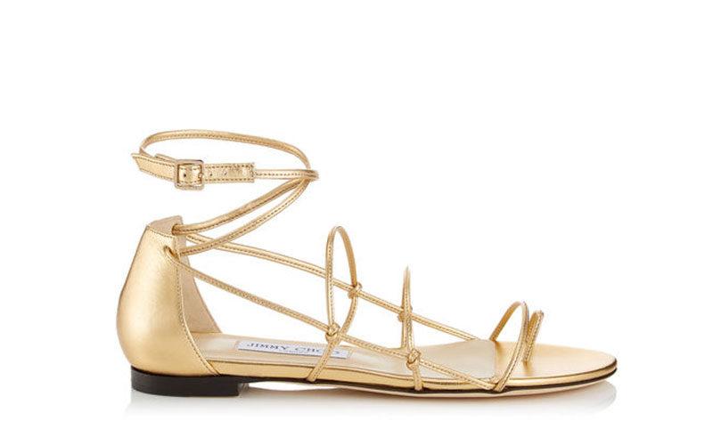 uk goedkope verkoop concurrerende prijs goedkope prijzen Jimmy Choo sphynx dames sandalen goud