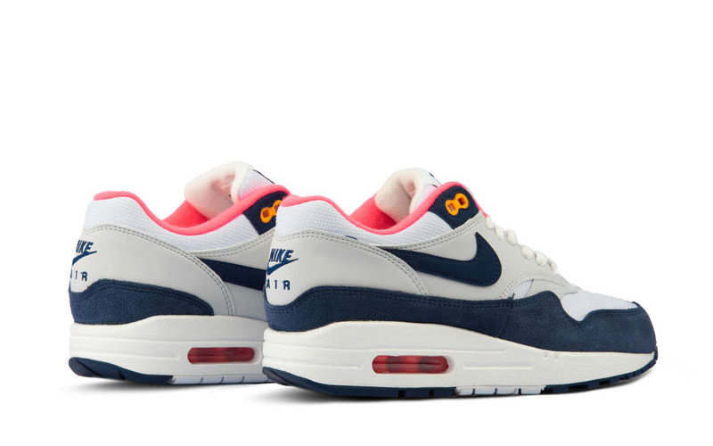 Nike air max 1 dames sneakers wit/donkerblauw