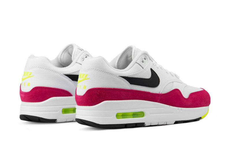 Nike air max 1 dames sneakers wit/roze