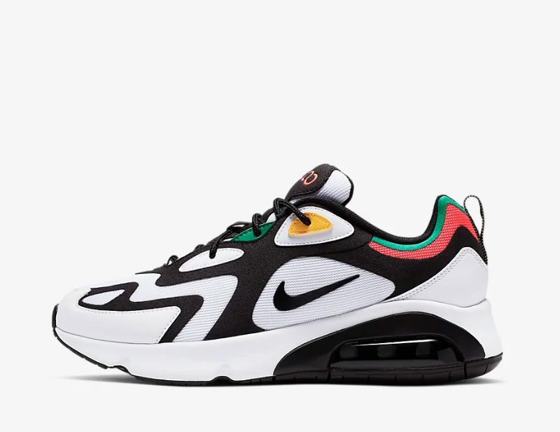 Nike air max 200 sneakers wit/zwart