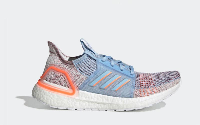 Adidas ultraboost 19 dames sneakers blauw/wit