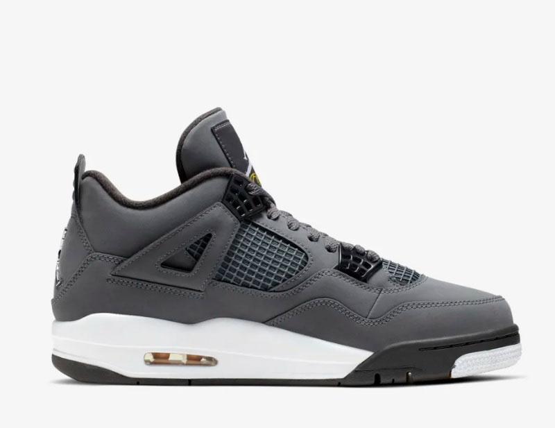 Nike air jordan retro 4 sneakers grijs