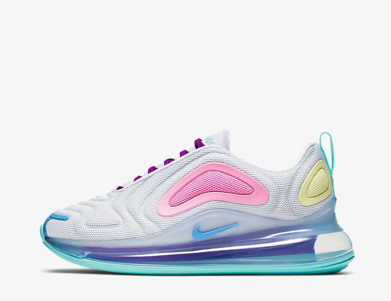 Nike air max 720 dames sneakers wit/paars - 01
