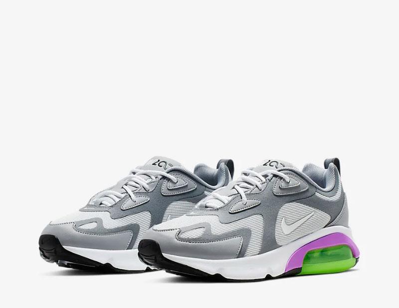 Nike air max 200 dames sneakers grijs/wit vind je in Sneakerstad